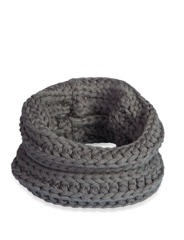 Doggie Trends Nyc Infinity Charcoal Grey Dog Scarf