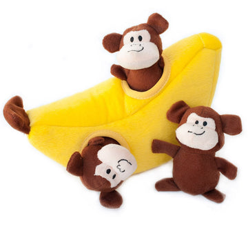 Doggie Trends Nyc Money and Banana Burrow Dog Toy