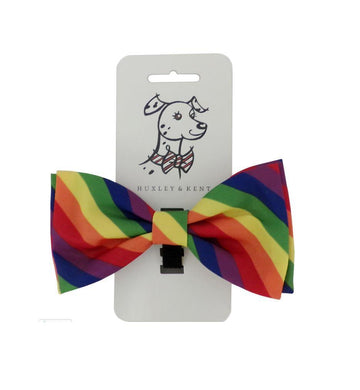 Doggie Trends Nyc Pride Rainbow Dog Bow tie