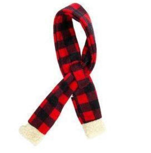 Doggie Trends Nyc Red Plaid Dog Scarf