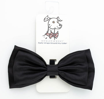 Doggie Trends Nyc s Black Satin Dog Bow tie