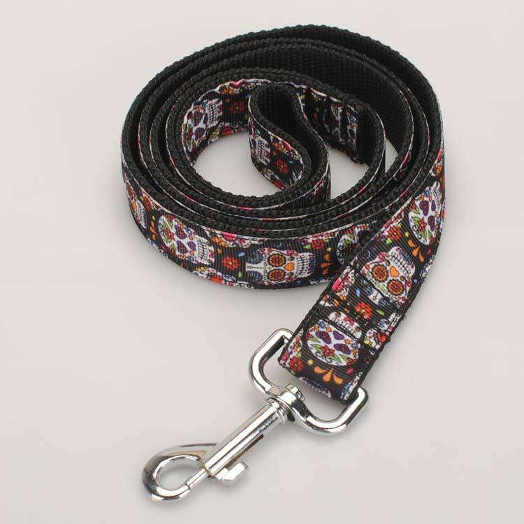 Doggie Trends Nyc Skull Print Dog Leash