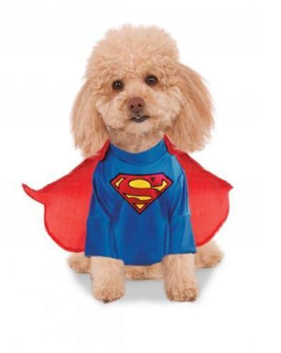 Doggie Trends Nyc Superman Dog Halloween Costume with Cape