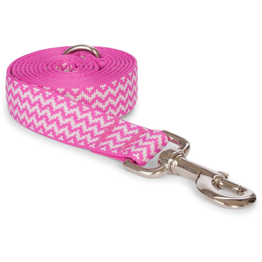 Doggie Trends Nyc Zigzag Pink Dog Leash