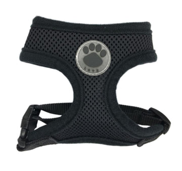 DoggieTrends Black Mesh Dog Harness