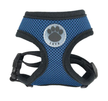 DoggieTrends navy / XS Navy and Black Mesh Dog Harness