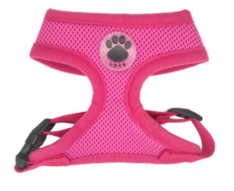 DoggieTrends Pink Mesh Dog Harness