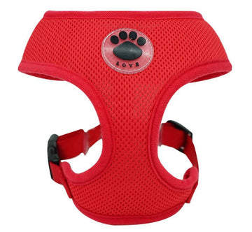 DoggieTrends Red Mesh Dog Harness
