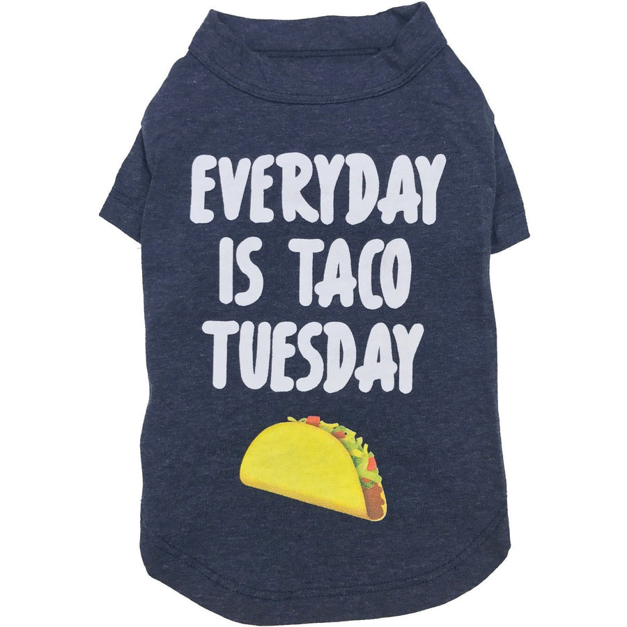 fabdog Clothing Taco tuesday blue dog t shirt by Fabdog
