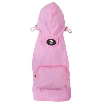 fabdog Coat Pale pink packable dog raincoat