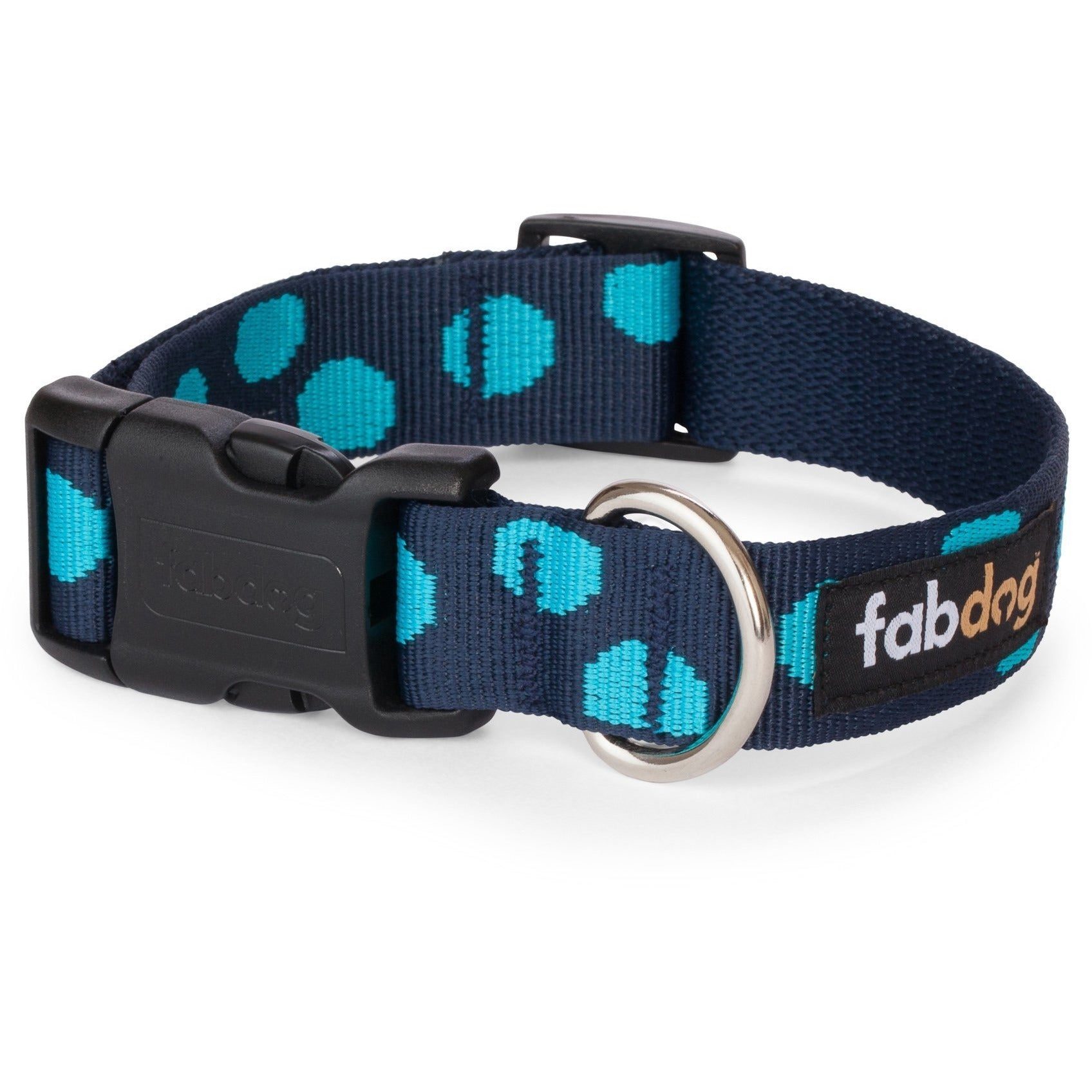 fabdog collar Blue polkadot dog collar by Fabdog