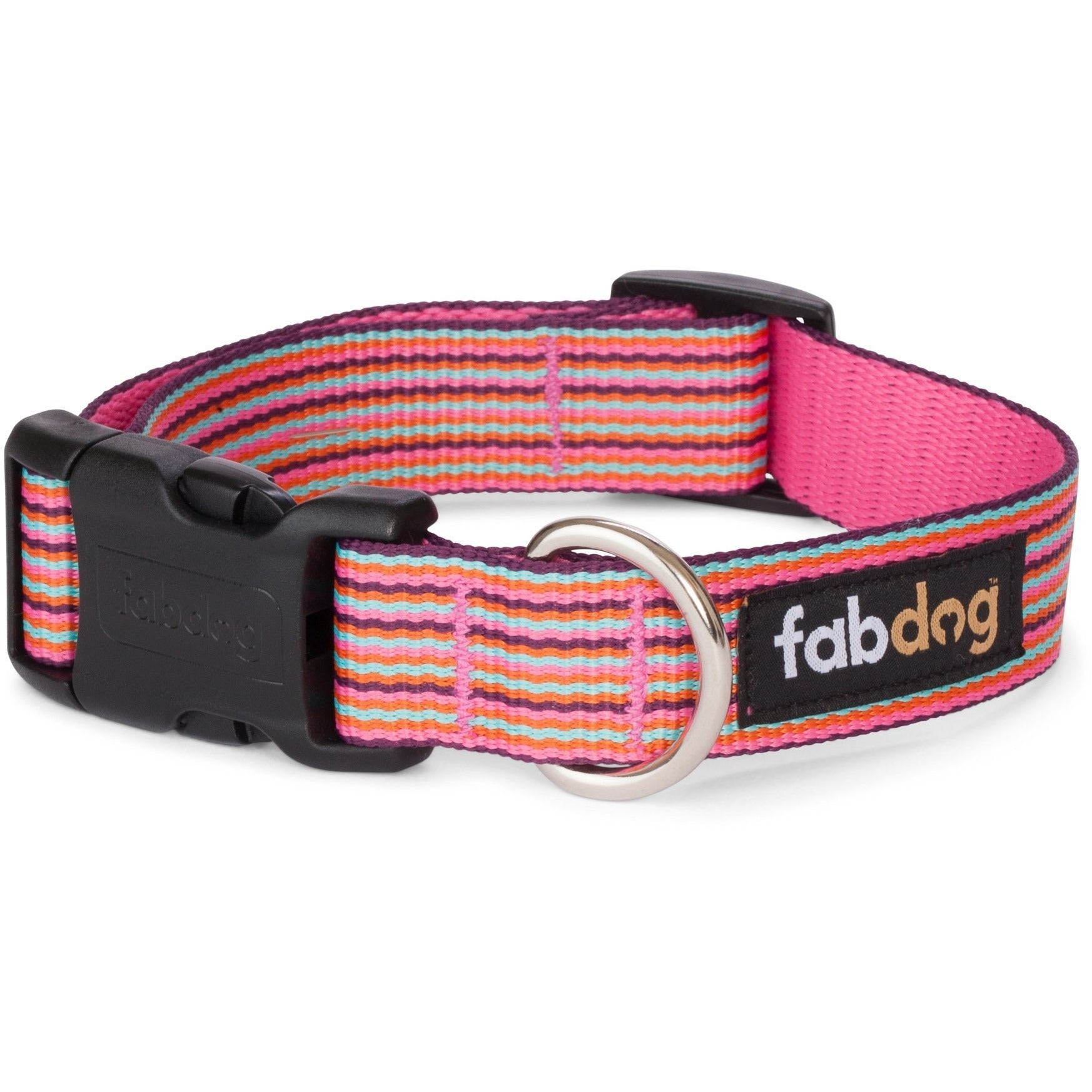 fabdog collar Pink mini stripe dog collar by Fabdog