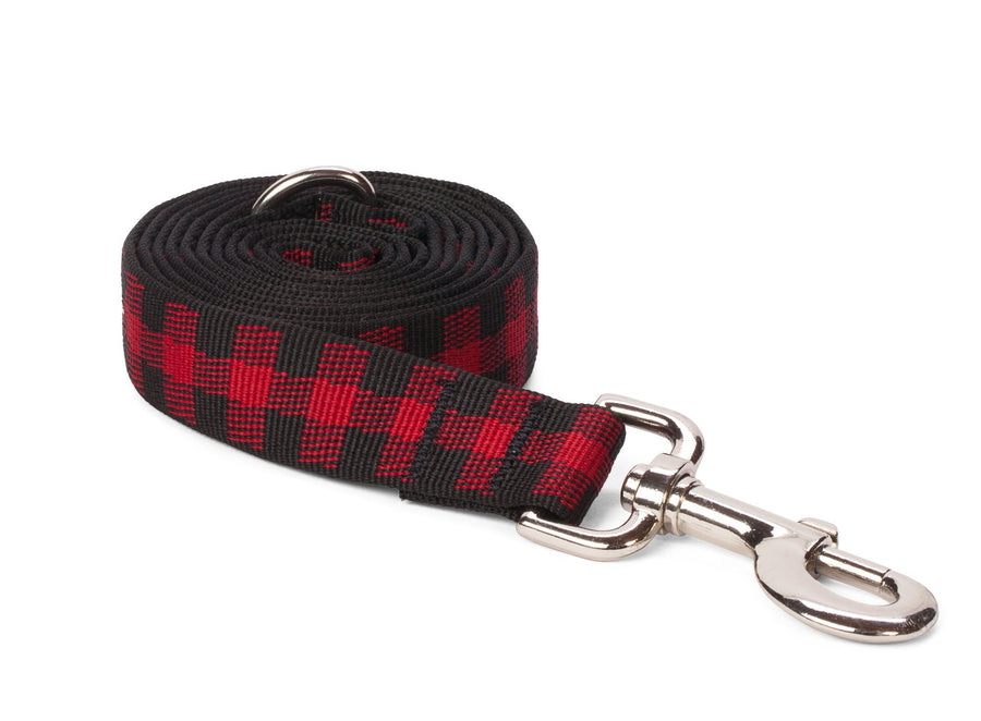 fabdog collar Red Buffalo Plaid Dog Collar and Leash set