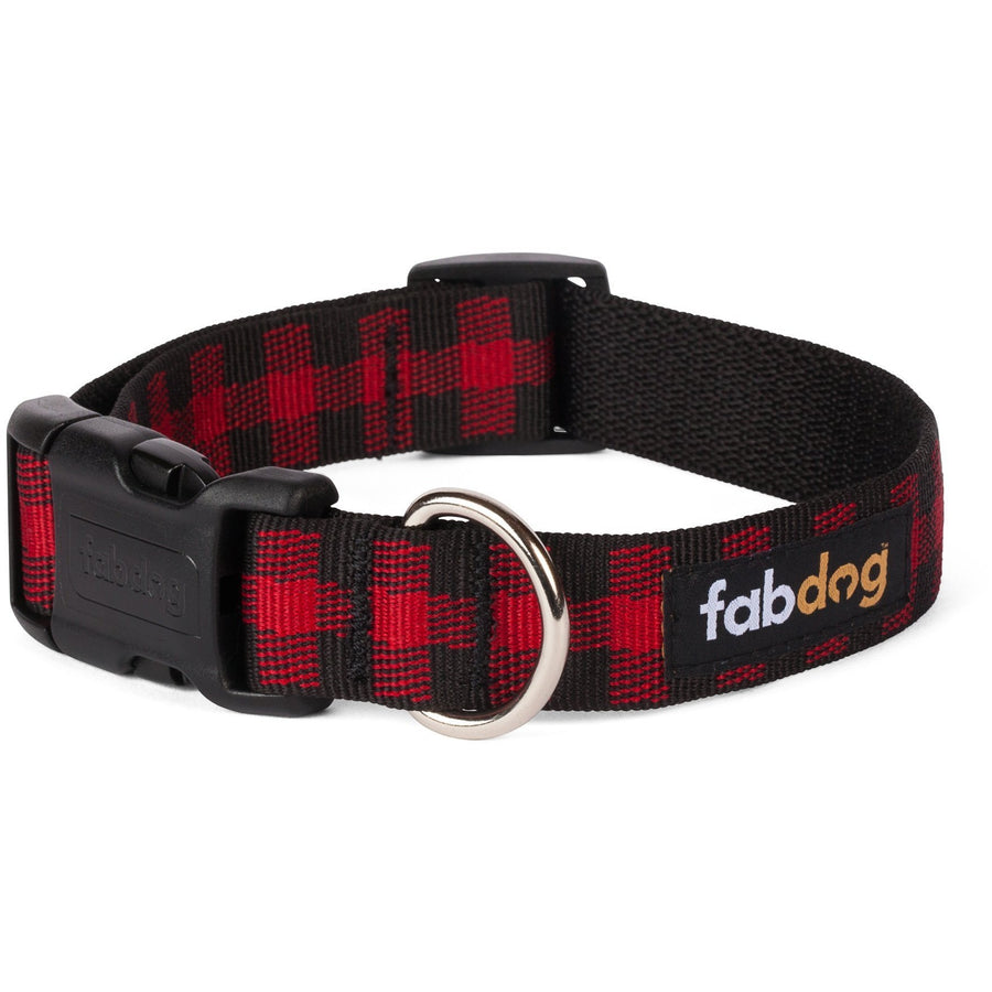 fabdog collar Red buffalo plaid dog collar by Fabdog
