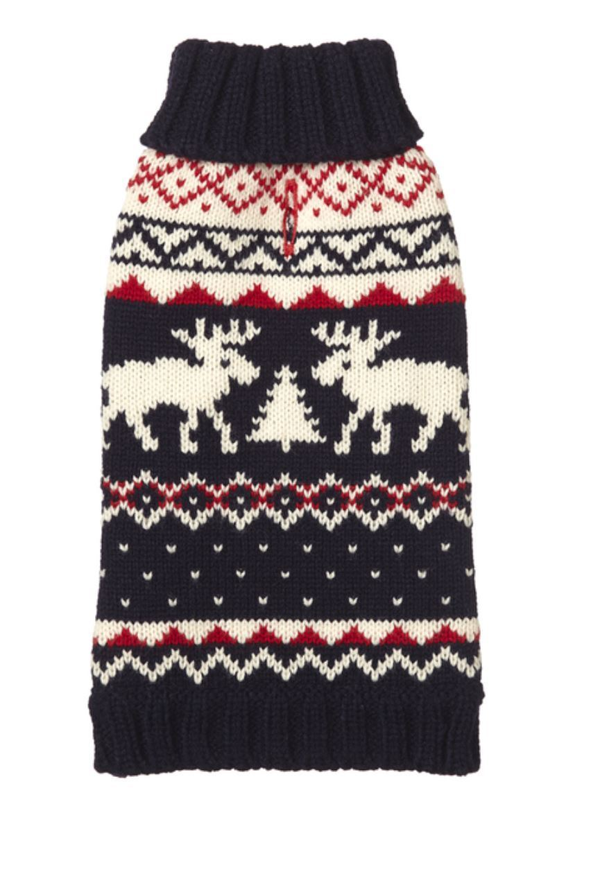 fabdog Holiday Reindeer Dog Sweater