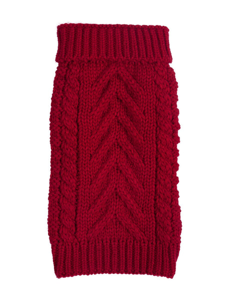 92c48366d Red Cable Knit Dog Sweater – Doggie Trends Nyc