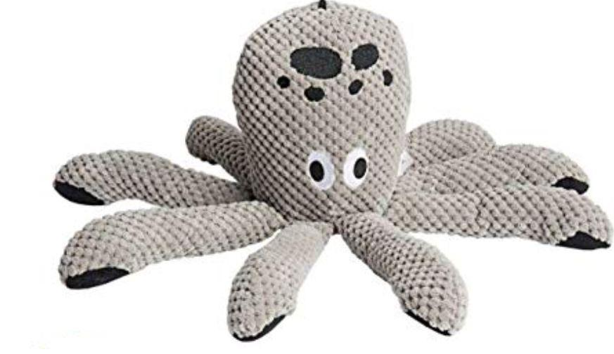 fabdog toys Squeaky Octopus Plush Dog Toy