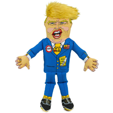 fuzzu Large Donald Trump Dog Toy with squeaker