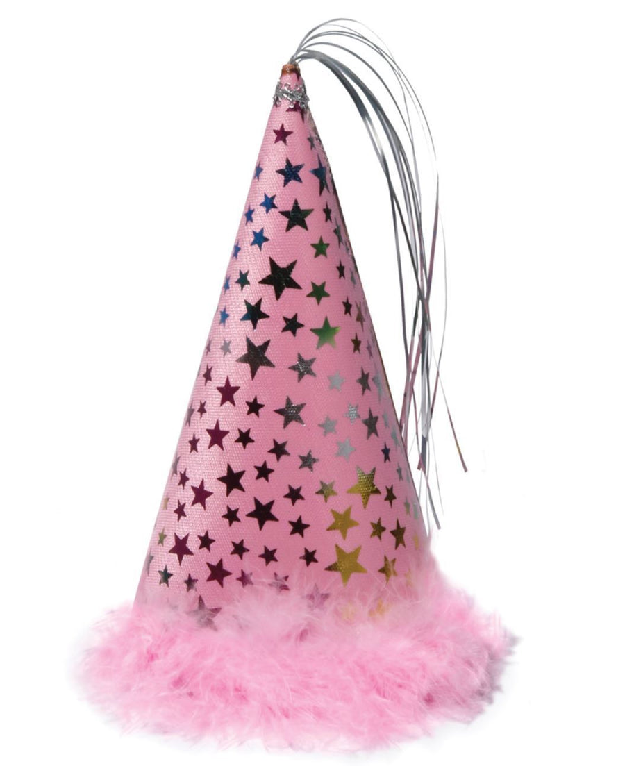 haute Pink Dog Birthday Party Hat