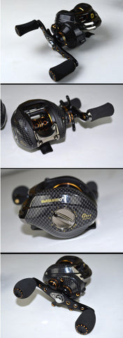 Image of FISHING BAITCASTING REEL 18 BB BALL BEARINGS DOUBLE BRAKE SYSTEM LEFT/RIGHT HAND CASTING