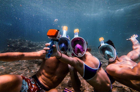 FREE BREATH 180° FULL FACE SNORKEL MASK