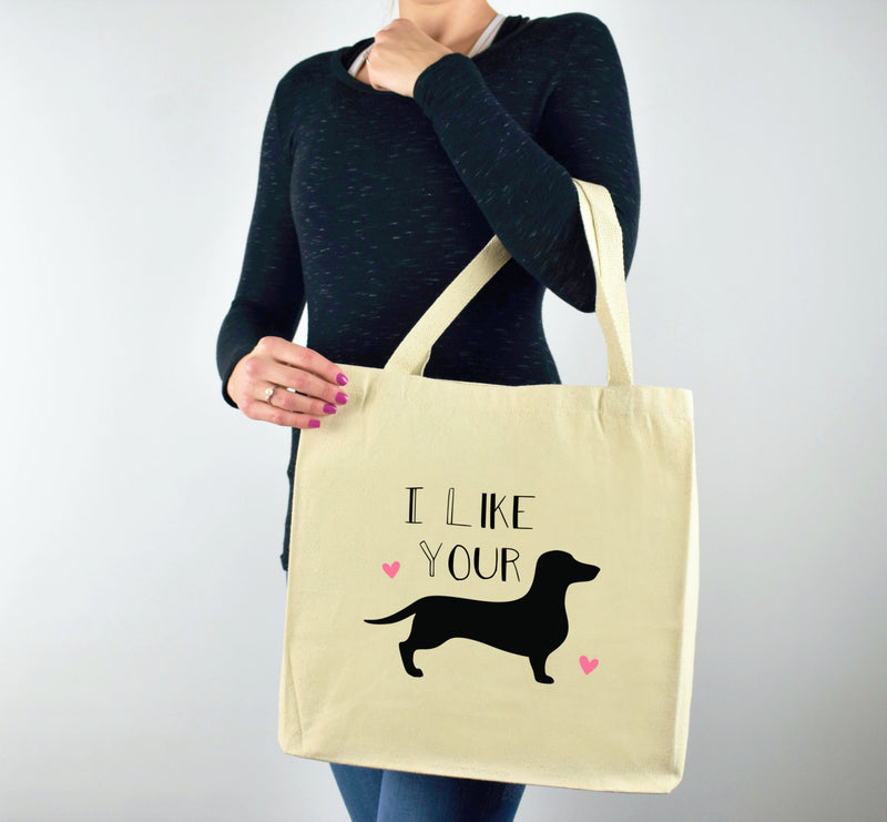 Tote Bag, Canvas Tote Bag, Weiner Dog Tote Bag, Dog Gift, Printed Tote, Gift for Dog Person, Dog Person Gift, Dog Canvas Bag, Dog Lover Gift