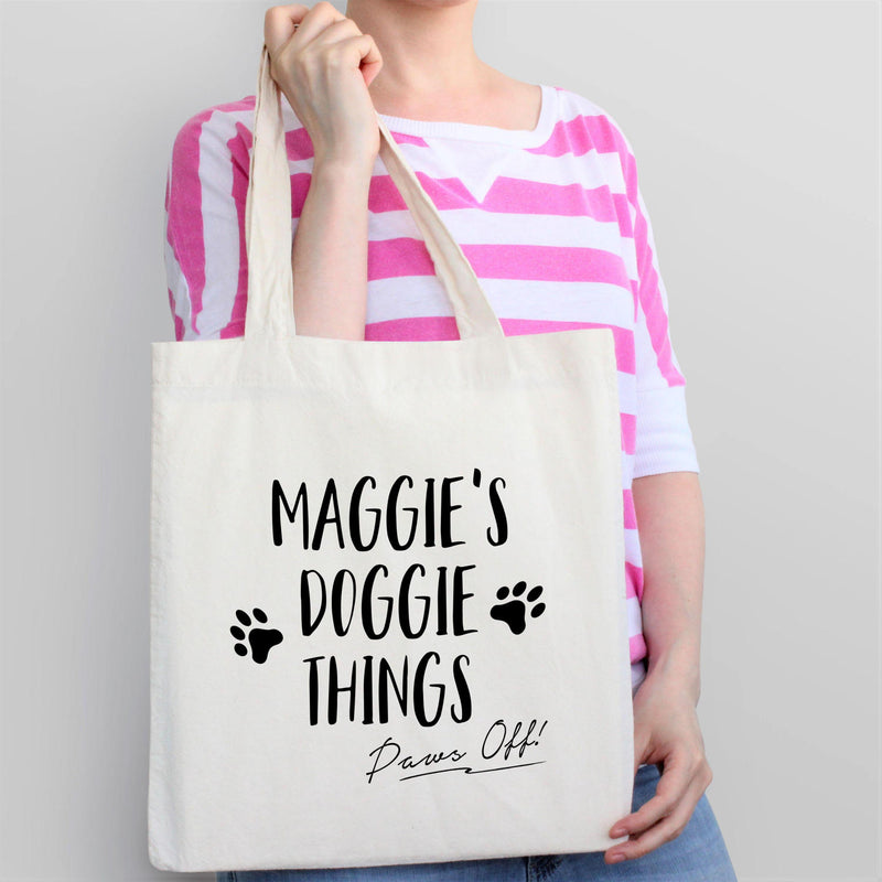 Personalized Dog Travel Tote Bag