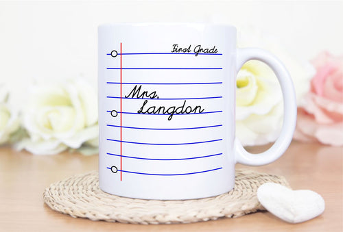 Personalized Teacher Name Mug