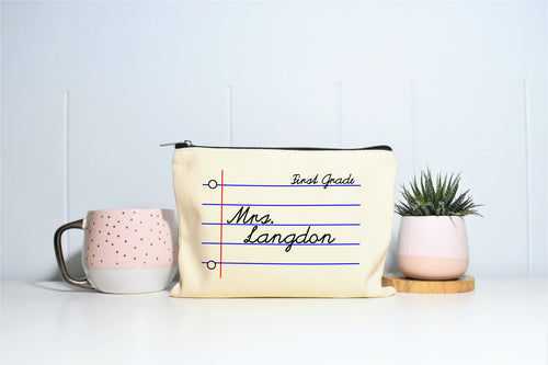 Personalized Teacher Makeup bag