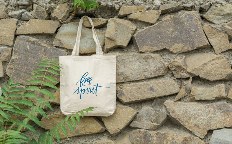 Canvas Tote Bag, Tote Bag, Free Spirit Bag, Beach Bag, Gift for Her, Birthday Gift, Hippie Gift, Book Bag, Hiking Bag, Inspirational Tote