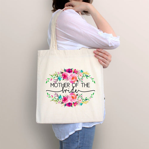 Mother of the Bride Tote, Mother of the Bride Gift, Bridal Gift, Floral Bride Bag, Mom Wedding, Mother of the Bride, Family Gift, Wedding