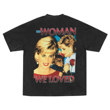 Load image into Gallery viewer, PRINCESS DIANA THE WOMAN WE LOVED T-SHIRT