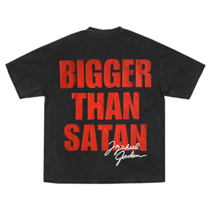 MICHAEL JORDAN BIGGER THAN SATAN T-SHIRT