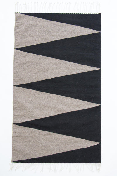 El Monte rug grey/black