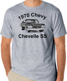 1970 Chevy Chevelle SS Classic Car T-Shirt - Muscle Cars, Vintage, Horsepower, Collectible - Badass Printing