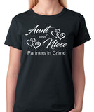 "Aunt and Niece T-Shirt ""Partners In Crime"""