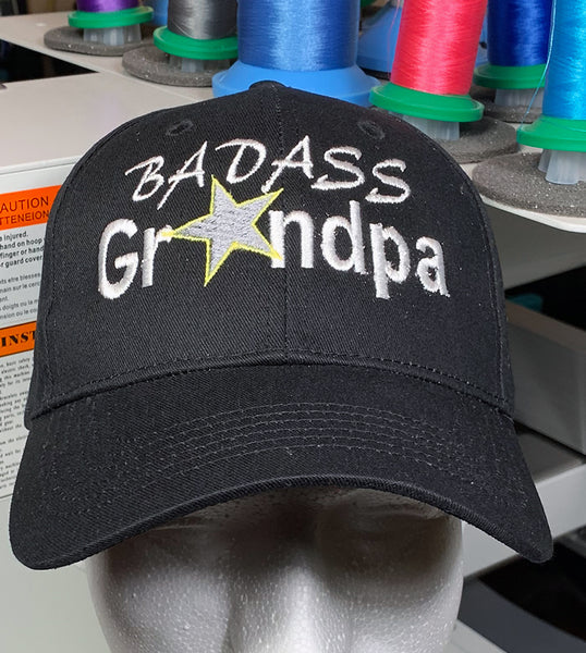 "Grandfather Hat ""Badass Grandpa"" Baseball Cap"