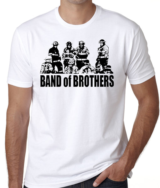 "Firefighter T-Shirt ""Band Of Brothers"", Firemen, Fire Services, First Responders - Badass Printing"