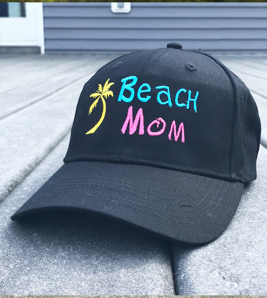 Mom Beach Baseball Cap - Badass Printing