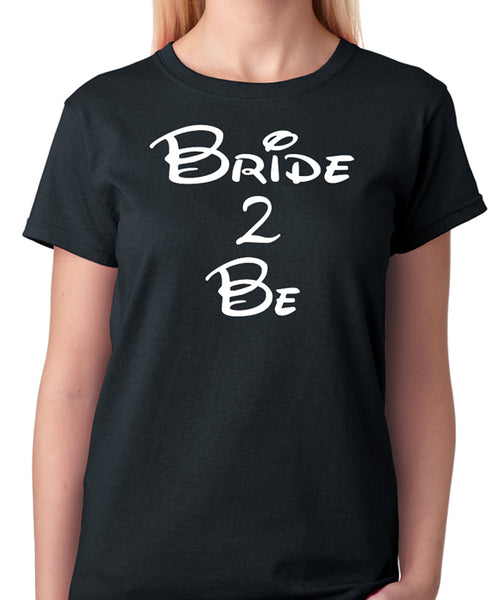 "Bride T-Shirt ""Bride 2 Be"" - Badass Printing"