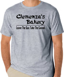 "The Godfather Parody T-Shirt ""Clemenza's Bakery, Leave The Gun, Take The Cannolli"" - Badass Printing"