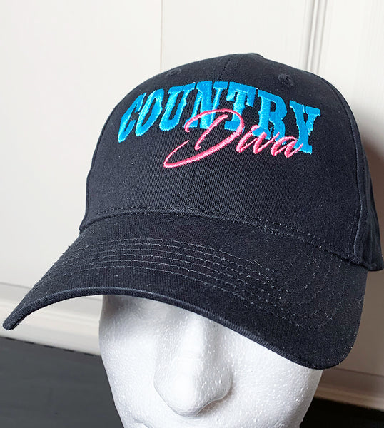 Embroidered Country Diva Cap