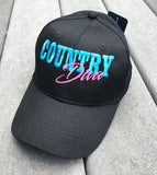 Country Diva Embroidered Basbeall Cap - Badass Printing