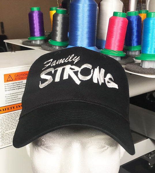Family Strong Embroidered Baseball Cap