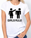 Girls Rule T-Shirt - Badass Printing