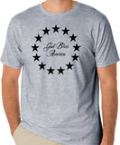 "Betsy Ross Flag T-Shirt ""God Bless America"", Patriotic Veteran Shirts,"