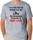 Firefighter T-Shirt, Fireman Quote, First Responder Shirt, Emergency Services, Heroes - Badass Printing