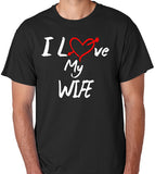 "Wife T-Shirt ""I Love My Wife"" with Red Heart - Badass Printing"