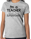 Teacher T-Shirt in gray short sleeve