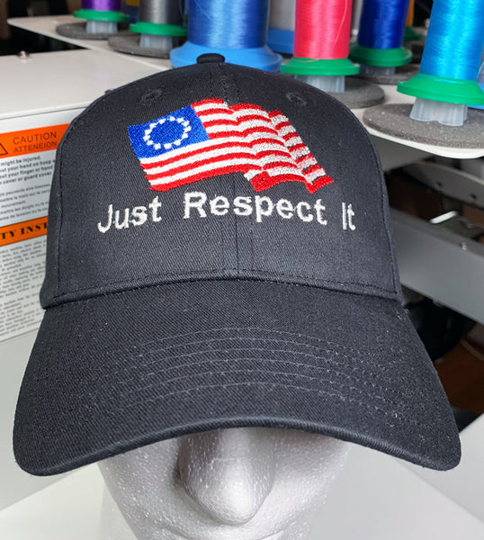 Betsy Ross Flag Embroidered Hat, Patriotic Caps